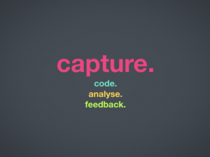 Capture, code, analyse, feedback - the 4 principles of performance analysis